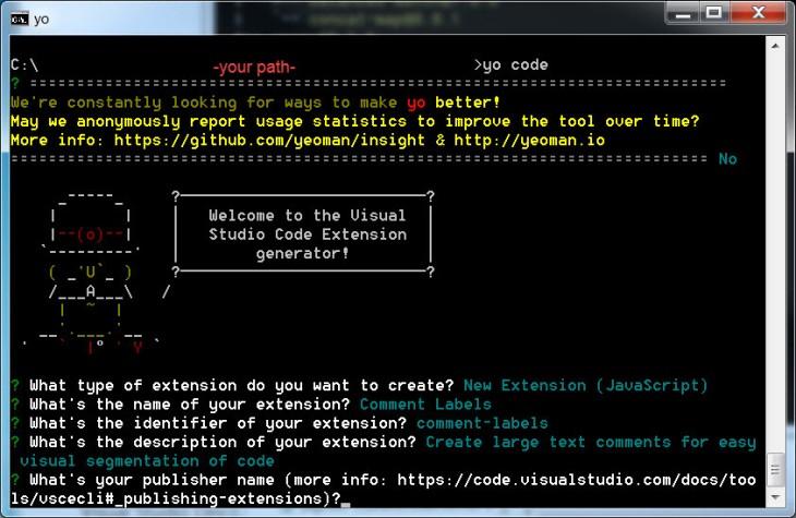vscode-yo-utility-create-new-pub