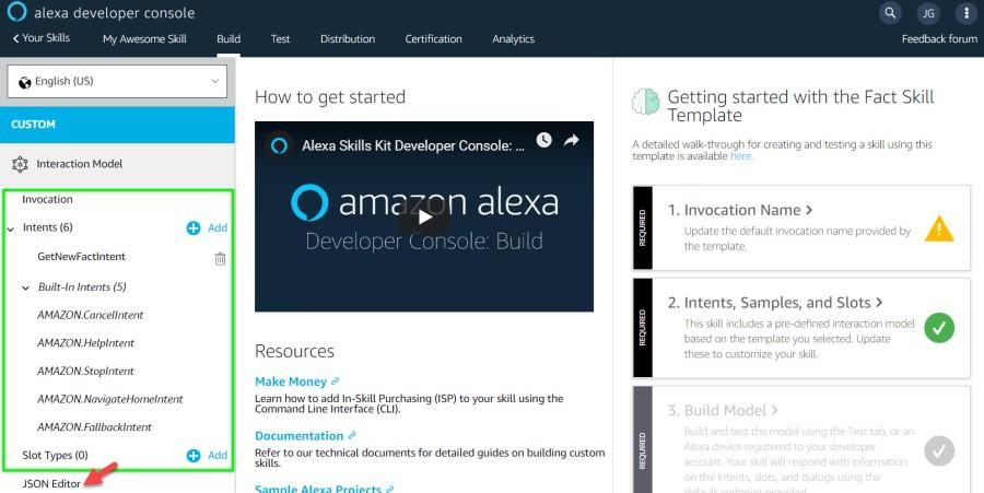 Developing and distributing an Alexa Skill (Part1)